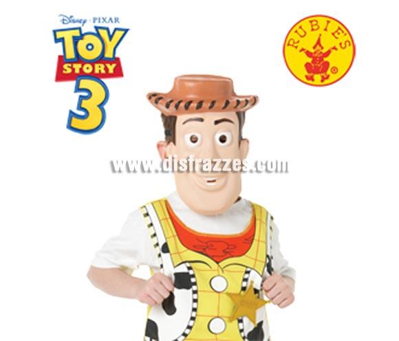 Careta EVA de Woody, de la película Toy Story 3. Ideal como complemento de tu disfraz para Carnaval. ¡¡Compra tu complemento para el disfraz de Carnaval en nuestra tienda de disfraces, será divertido!!