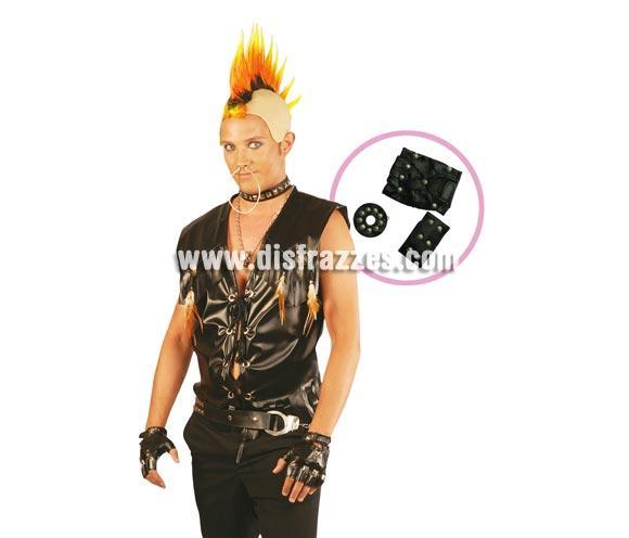 Conjunto Punk o Conjunto Sado. Incluye pendiente, collar y guantes.