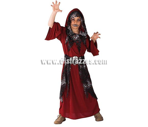 Disfraz del Guardián de la Noche infantil para Halloween. Talla de 8 a 10 años. Incluye túnica con capucha y cinturón.