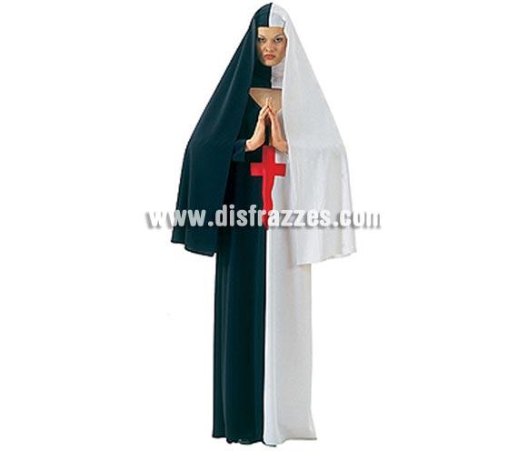 Disfraz de Madre Superiora Maldita adulta para Halloween. Talla única de mujer. Incluye Hábito con velo y alzacuello.