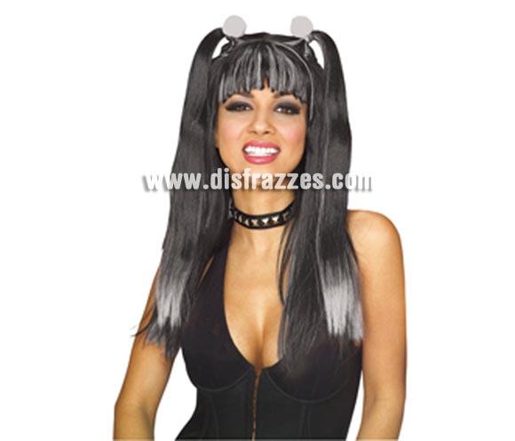 Peluca Cheerleader Gótica o Animadora para Halloween.  ¡¡Compra los complementos de tu disfraz para Halloween en nuestra tienda de disfraces, será divertido!!
