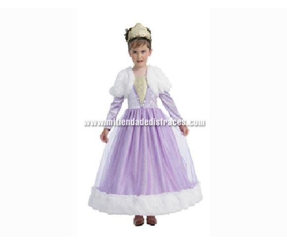 Disfraz de Princesa Púrpura talla de 3 a 4 años. Incluye vestido y tocado.