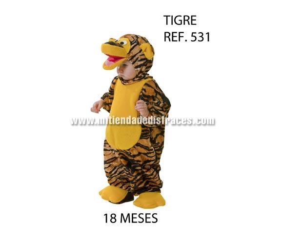 Disfraz de Tigre para niños de 18 meses. Buena calidad, hecho en España. Incluye disfraz completo con capucha. Un disfraz diferente y original para que tu hijo/a sea el centro de todas las miradas. ¿Te has fijado en el precio?