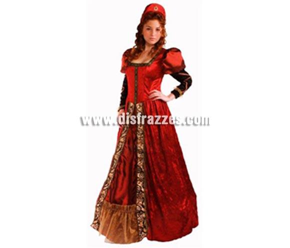 Disfraz de Cortesana Medieval adulta. Talla Universal de mujer. Incluye vestido y tiara. Disfraz de Dama o Doncella Medieval.