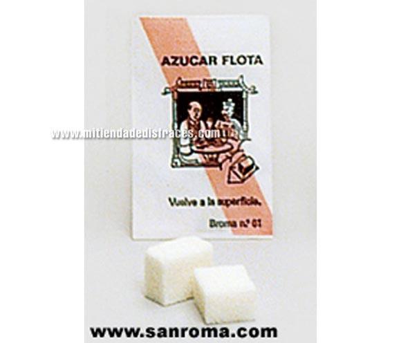 Azúcar flota. Son 2 trocitos de esponja que simulan terrones de azúcar, por eso al echarlos al café flotan.