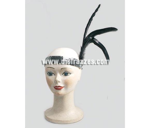 Cinta lentejuelas con pluma de Charlestón. También es ideal para el disfraz de Can Can y Burlesque.