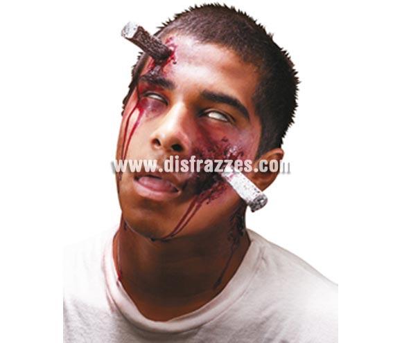 Maquillaje FX Tornillo incrustado para Halloween.