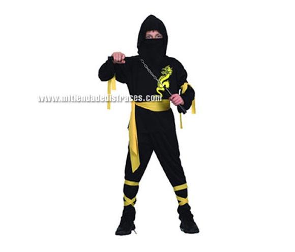 Disfraz de Ninja Dragón infantil. Talla de 7 a 9 años. Luchacos NO incluidos.