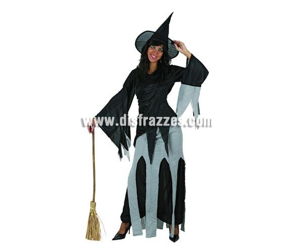 Disfraz de Bruja telarañas adulta para Halloween. Talla Standar M-L = 38/42. Escoba NO incluida, podrás verla en la sección Complementos para Halloween.