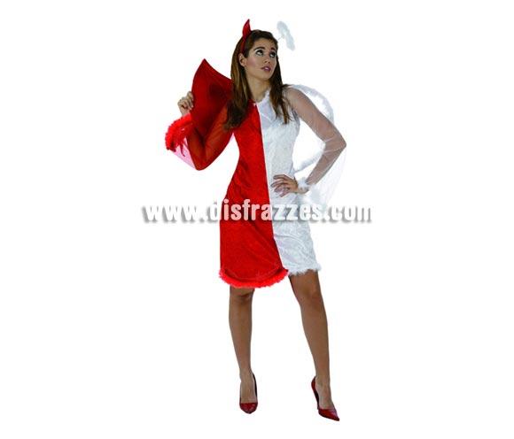 Disfraz de Angel - Demonio talla XL para Halloween. Talla XL = 44/48. Incluye vestido, alas y diadema.
