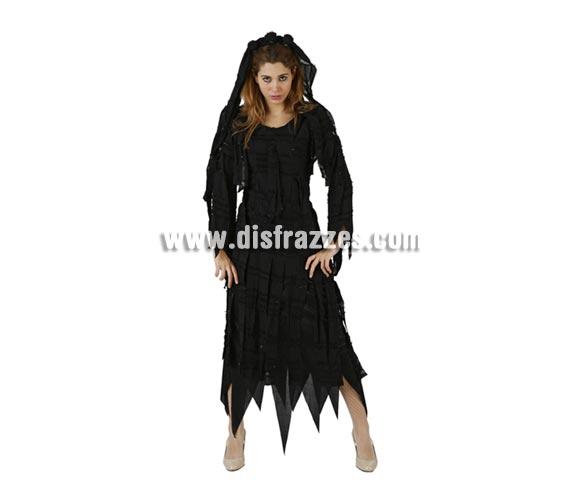 Disfraz de Reina de la Oscuridad o de Novia Viuda adulta para Halloween. Talla estándar M-L = 38/42.