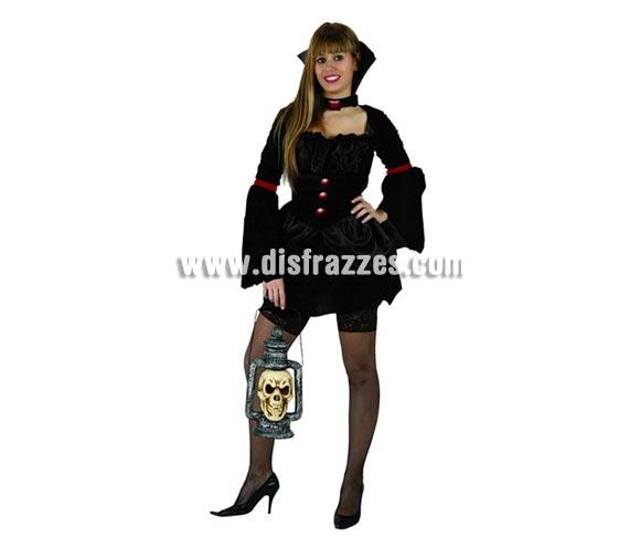 Disfraz de Vampira o Vampiresa de lujo adulta para Halloween. Talla única 38/42. Farol NO incluido, podrás verlo en la sección de Decoración de Halloween.