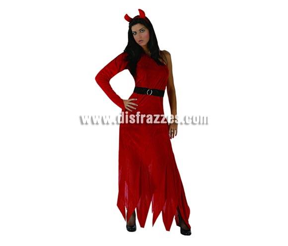 Disfraz de Demonia o Diablesa adulta para Halloween. Talla estándar 38/42.