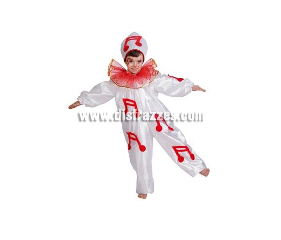 Disfraz de Pierrot infantil para Carnaval. Alta calidad. Hecho en España. Disponible en varias tallas. Incluye traje y gorro.