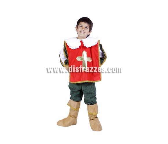 Disfraz de Espadachín infantil para Carnaval. Disfraz de Mosquetero, Dartañán o Dartacán. Alta calidad. Hecho en España. Disponible en varias tallas.