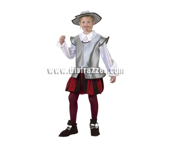 Disfraz de Caballero Don Quijote infantil. Alta calidad. Hecho en España. Disponible en varias tallas. Incluye todo menos las medias.
