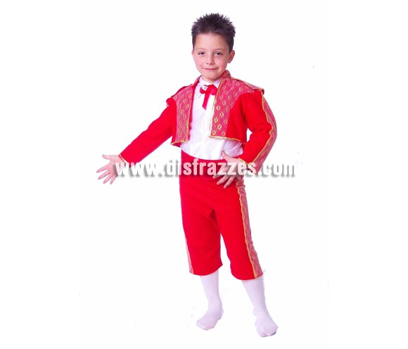 Disfraz de Torero infantil. Alta calidad. Hecho en España. Disponible en varias tallas. Incluye pantalón, camisa y chaqueta.