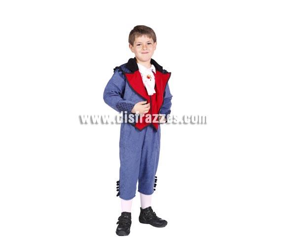 Disfraz de Goyesco infantil. Alta calidad. Hecho en España. Disponible en varias tallas. Incluye pantalones, chaqueta, camisa y cuello.