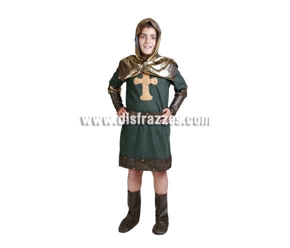 Disfraz de Cid infantil. Alta calidad. Hecho en España. Disponible en varias tallas. Incluye verdugo, casaca, cinturón y cubre-botas.