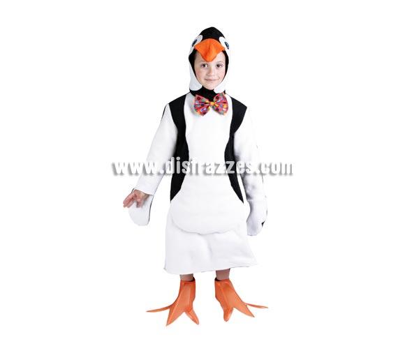 Disfraz de Pingüino infantil. Alta calidad. Hecho en España. Disponible en varias tallas. Disfraz de Pingüino para niño y para niña.