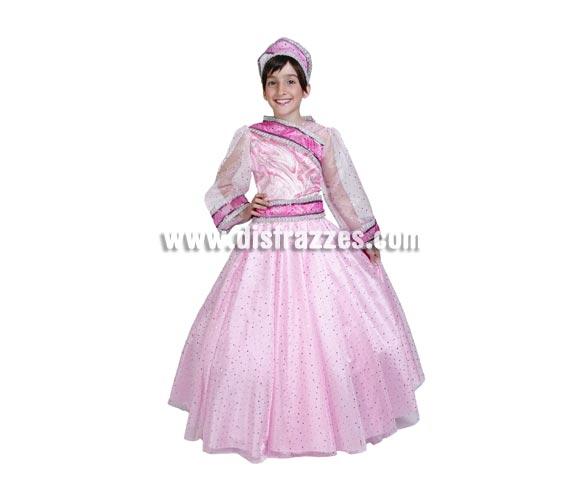 Disfraz de Princesa Anastasia infantil. Alta calidad. Hecho en España. Disponible en varias tallas. Incluye vestido y tocado. Disfraz de Princesa para niña.