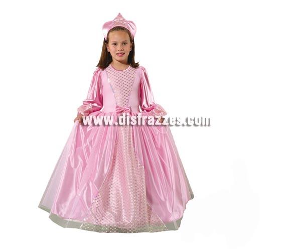 Disfraz de Princesa Especial infantil. Alta calidad. Hecho en España. Disponible en varias tallas. Incluye vestido y tocado. Disfraz de Princesa rosa para niña, ideal para regalar en Navidad y Reyes Magos.
