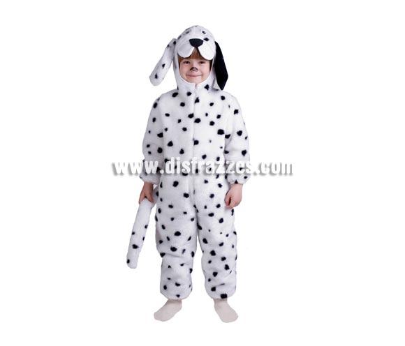 Disfraz de Dálmata infantil. Alta calidad. Hecho en España. Disponible en varias tallas. Incluye mono con capucha y cola. Disfraz de Perro Dálmata para niños.