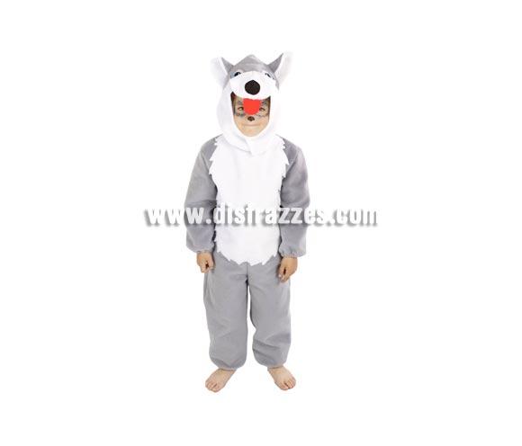 Disfraz de Perro Husky infantil. Alta calidad. Hecho en España. Disponible en varias tallas. Incluye mono y capucha con forma de Husky.