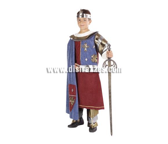 Disfraz de Rey Arturo infantil. Alta calidad. Hecho en España. Disponible en varias tallas. Espada NO incluida.