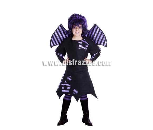 Disfraz de Vampiresa Otaku infantil para Halloween. Buena calidad. Hecho en España. Disponible en varias tallas. Incluye Alas y vestido.