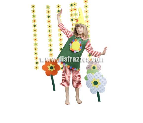 Disfraz de Elfa infantil para Carnaval y para Navidad. Buena calidad. Hecho en España. Disponible en varias tallas. Incluye gorro, camisa-peto y pantalón. Disfraz de Duende de niña para Navidad.