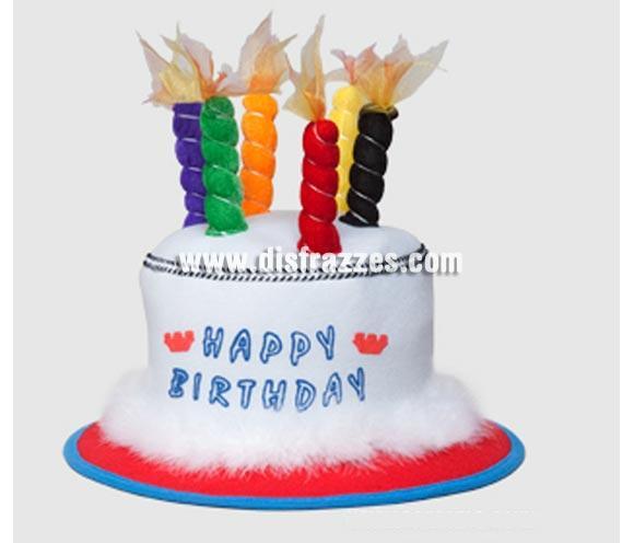 Sombrero Cumpleaños con velas. Ideal para celebrar tu Cumpleaños de una forma original y divertida. ¡¡Compra tus artículos de Fiesta en nuestra tienda de disfraces, será divertido!!
