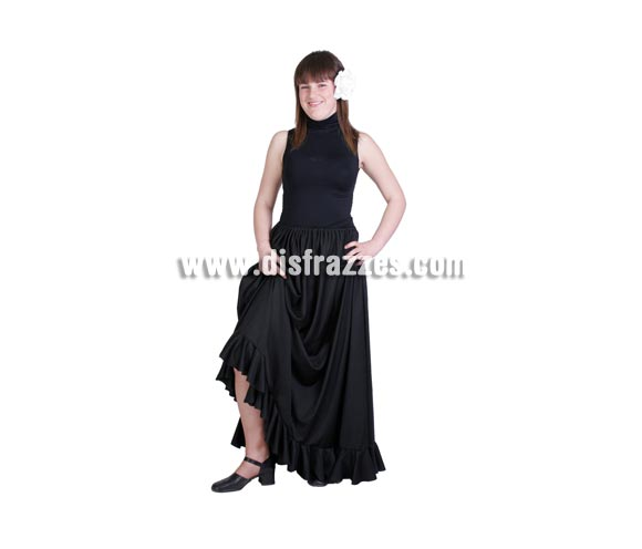 Falda Rociera o Falda Flamenca adulta. Buena calidad. Hecho en España. Talla única 44. Incluye sólo la falda.