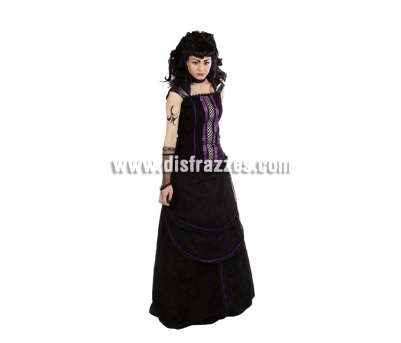 Disfraz de Diosa Hécate adulta para Halloween. Alta calidad. Hecho en España. Talla única 44. Incluye falda y corpiño.