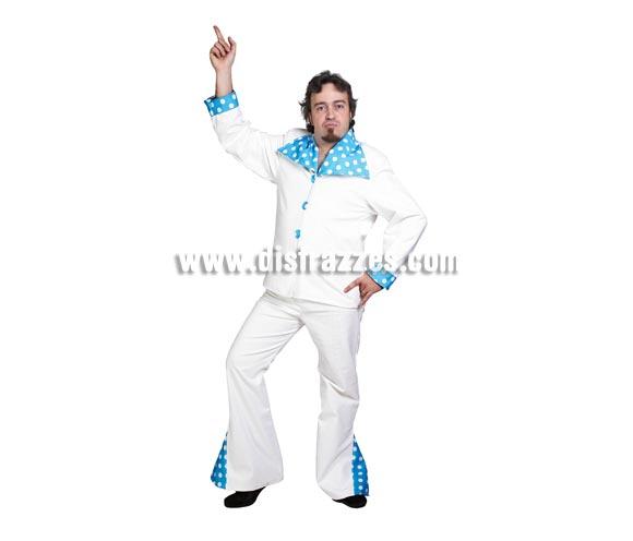 Disfraz de Tony Manolo adulto para Carnaval. Alta calidad. Hecho en España. Talla única 52/56. Incluye chaqueta y pantalones. Disfraz de Tony Manero.