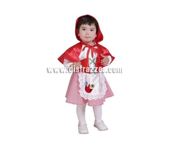 Disfraz de Caperucita Roja bebé para Carnaval. Talla de 18 meses. Alta calidad. Hecho en España. Incluye vestidito y capa con capucha.