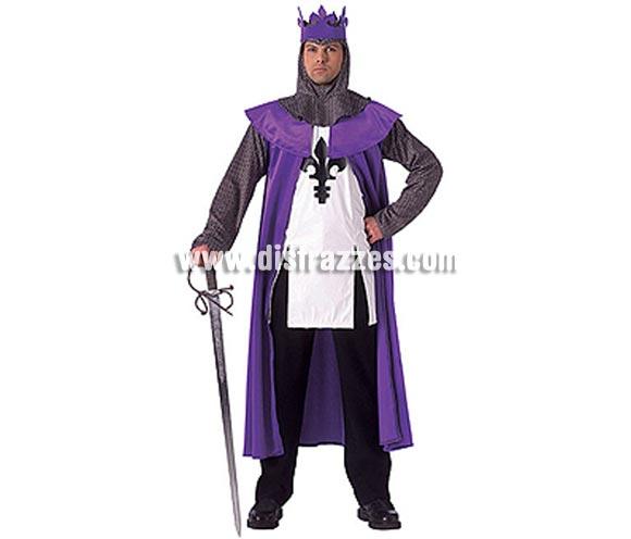 Disfraz de Rey Medieval adulto. Talla Universal de hombre. Incluye camisa, capa con cuello y corona. Espada NO incluida.