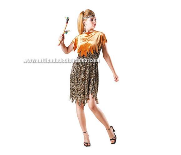 Disfraz de Cavernícola adulta. Talla Standar M- L = 38/42. Incluye vestido y cinturón. Disfraz de Troglodita adulta.