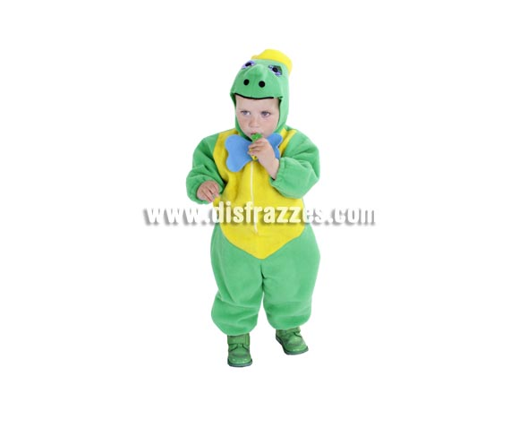 Disfraz de Tortuga bebé para Carnaval. Talla de 18 meses. Alta calidad. Hecho en España. Incluye mono con pajarita, capucha y caparazón.