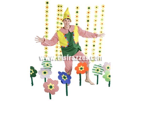 Disfraz de Elfo adulto para Carnaval y para Navidad. Alta calidad. Hecho en España. Talla única 52/56. Gorro incluido. Disfraz de Enanito, Duende o Gnomo.