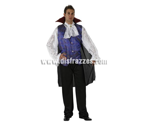 Disfraz de Vampiro o Drácula lujo adulto para Halloween. Talla standar M-L =  52/54.