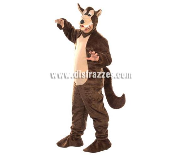 Disfraz de Lobo para hombre. Alta calidad. Hecho en España. Talla única (50). Incluye traje completo con gorro. Un disfraz muy calentito para comerse a Caperucita Roja.