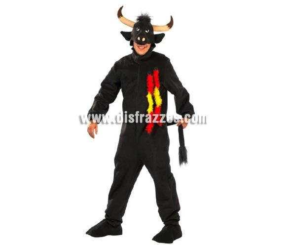 Disfraz de Toro para hombre. Alta calidad. Hecho en España. Talla única (50). Incluye traje completo tal y como se ve en la foto. Un disfraz muy calentito para pillar a las Toreras.