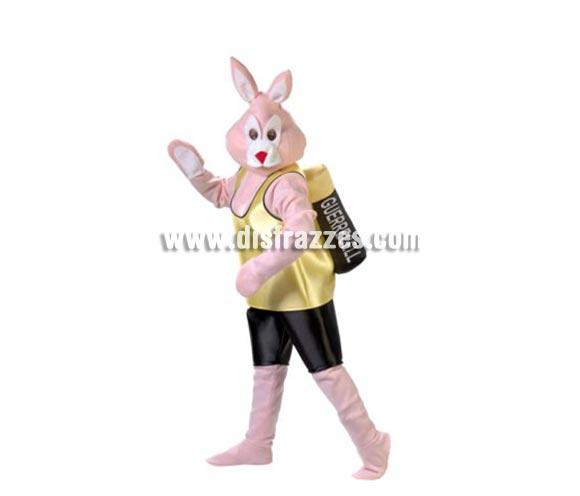 Disfraz de Conejo Duracell adulto. Alta calidad. Hecho en España. Disponible en talla única de hombre (50) y de mujer (44). Incluye cabeza, camisa con pila y pantalones con piernas y cubrepies.  Disfraz calentito ideal para Grupos y Comparsas.