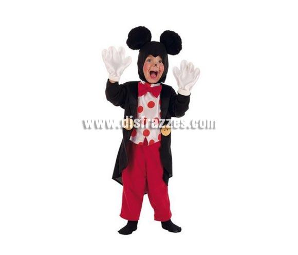 Disfraz de Ratón Frac infantil Deluxe para Carnaval. Para ir igual que Mickey. Incluye pantalón, gorro, chaqueta con camisa y guantes. Varias tallas. Alta calidad. Hecho en España.