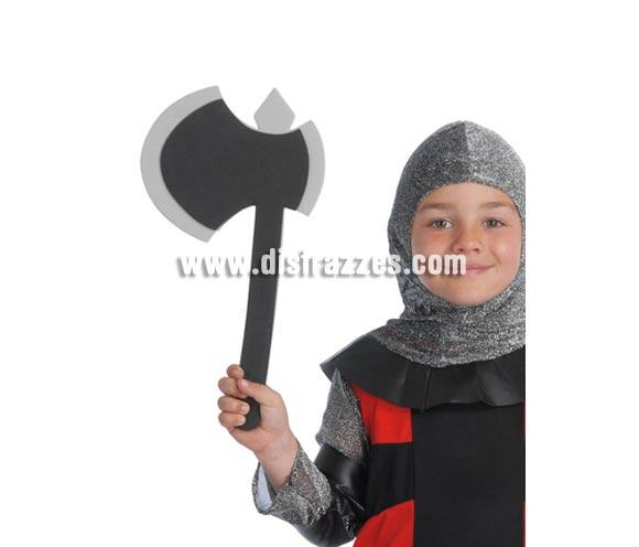 Hacha de 38 cm. Material EVA. Perfecta como complemento de los disfraces Medievales. Perfecto para los niños ya que es material blandito.