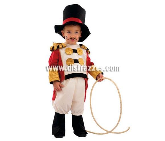 Disfraz de Domador de Circo infantil Deluxe para Carnaval. Varias tallas. Incluye pantalón, gorro, cubrebotas y chaqueta. Alta calidad. Hecho en España.