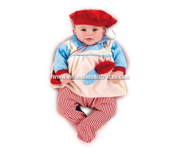 Nana Pintor bebé Deluxe. Hecho en España. Talla de 6 a 9 meses. Incluye gorro y mono.