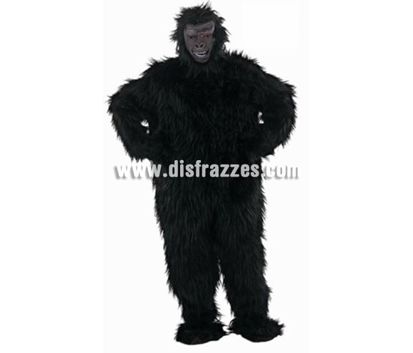 Disfraz de Gorila adulto Deluxe para Carnaval. Disponible en varias tallas. Incluye traje completo y cabeza. Disfraz de King Kong para divertirse en Carnvales. Alta calidad. Hecho en España.