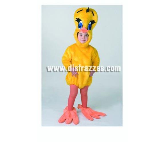 Disfraz de Pollito bebé para Carnaval. Talla de 18 meses. Alta calidad. Hecho en España. Incluye capucha, traje y cubrepies. Disfraz de Piolín para Bebés.